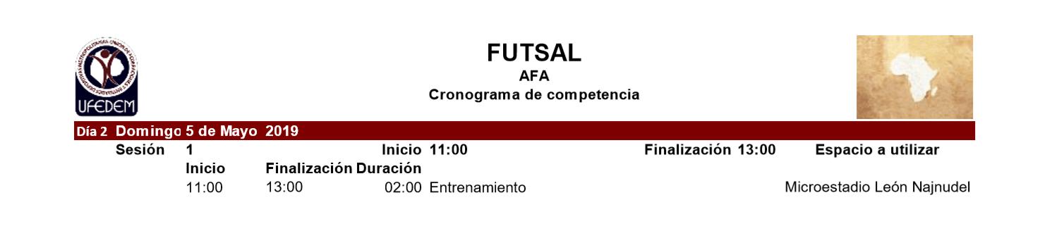 Futsal 2.2 - Cronograma
